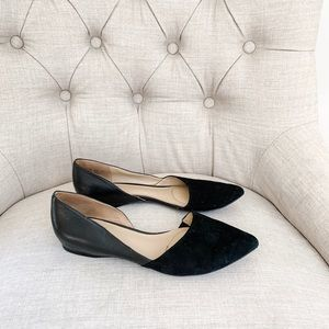 Naturalizer suede and leather d'orsay flats.